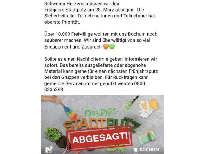 Stadtputz_Absage